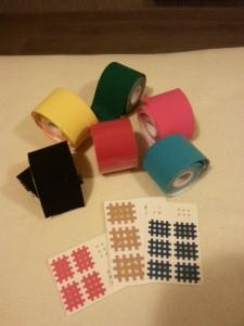 Tapings in verschiedenen Farben